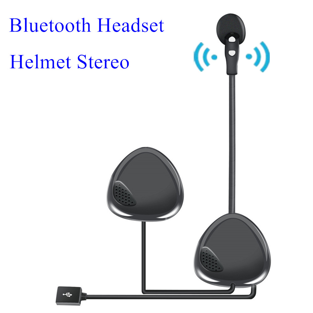 Wireless Bluetooth Helmet Headset Anti-interference Helmet Stereo For Motorcycle Helmet Riding Hands Free Headphone For GPS MP3
