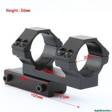 Free Shipping 30mm Rifle Scope Mount Extended 11mm Dovetail Rail Laser Flashlight for Rifle Scope Hunting Accessories 2017 new frie wolf illumination 6x40ir riflescopes rifle scope hunting scope fits for 11mm 20mm rail free shipping