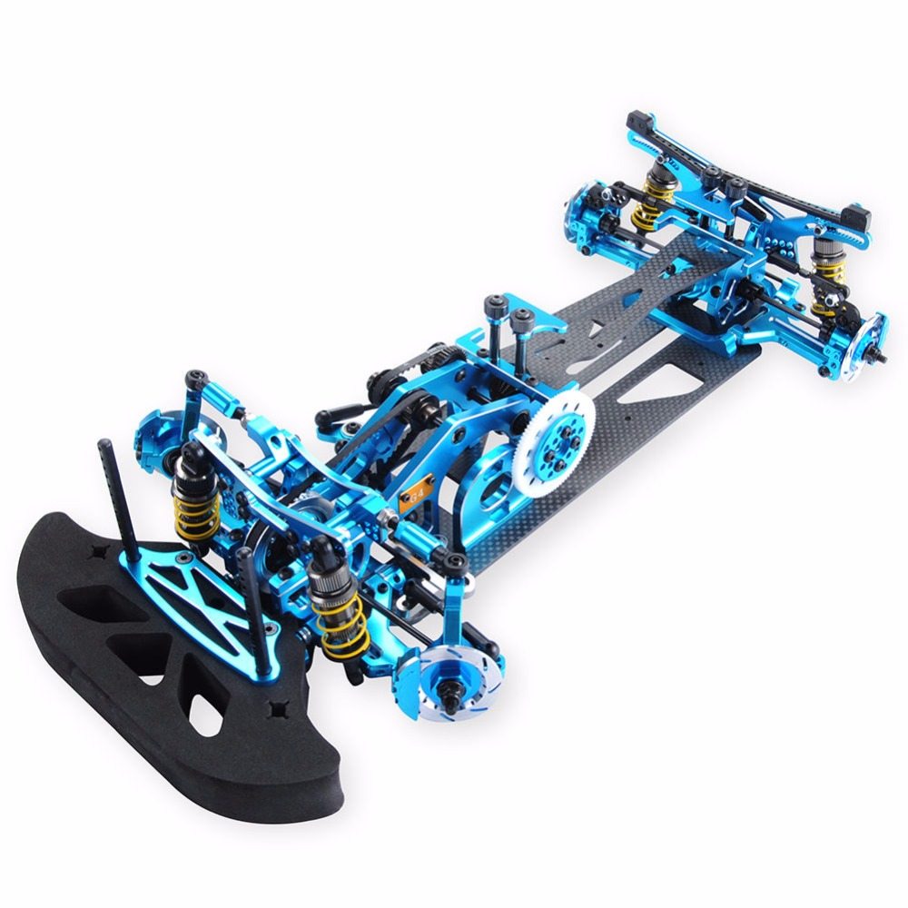 1 10 4WD Drift Red Carbon Fiber RC Racing Car Drive Shft Frame Kit Chassis G4 Hotsa RC Racing Car accessories in Parts Accessories from Toys Hobbies