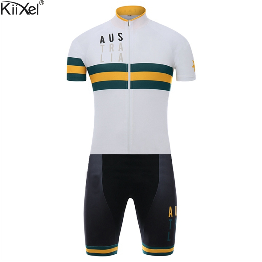 Australia National Team Cycling Skinsuit Triathlon Sports Clothing Men's Cycling Set Ropa De Ciclismo Maillot Pro Race Skinsuit