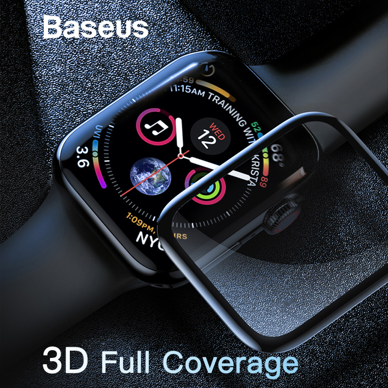 Baseus 0.3mm Screen Protector For iWatch 4 Scratch Proof Tempered Glass 9H Touchscreen Pro