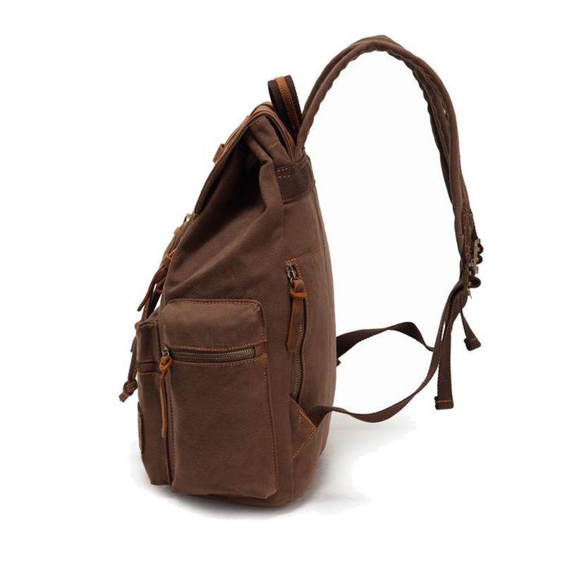 Backpack Vintage Canvas Backpack School Bags Travel Bags Male Large Capacity Travel Laptop Bag