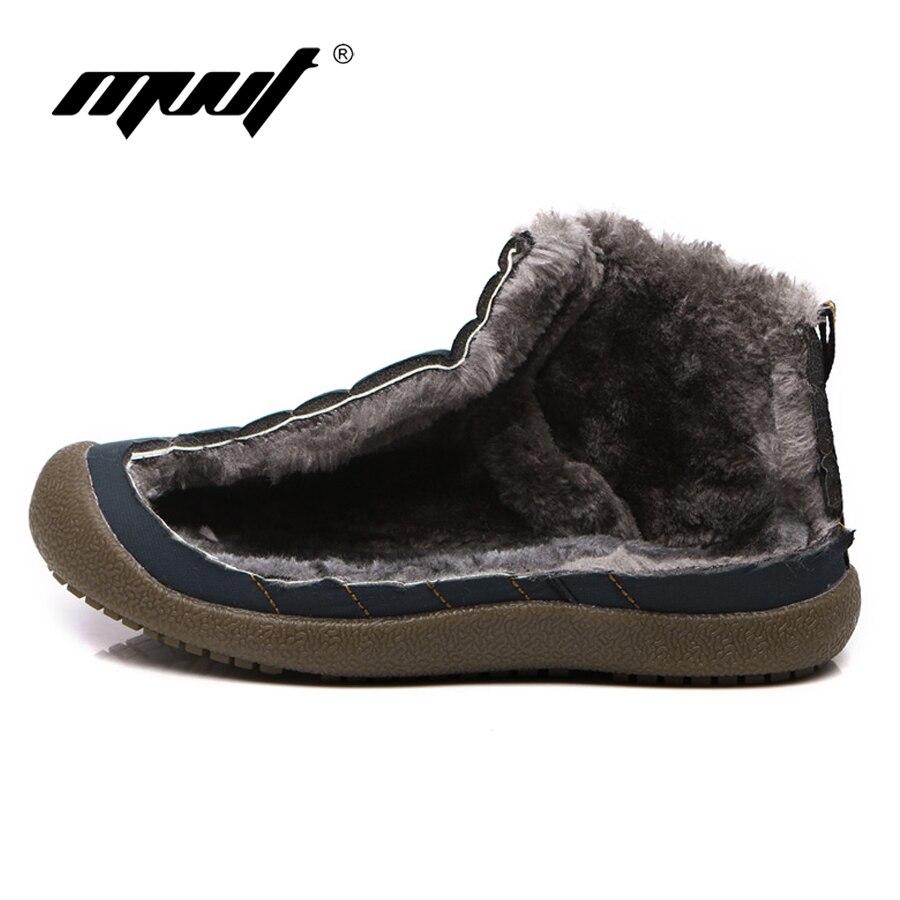 Мужские зимние ботинки, теплые водонепроницаемые ботинки на меху