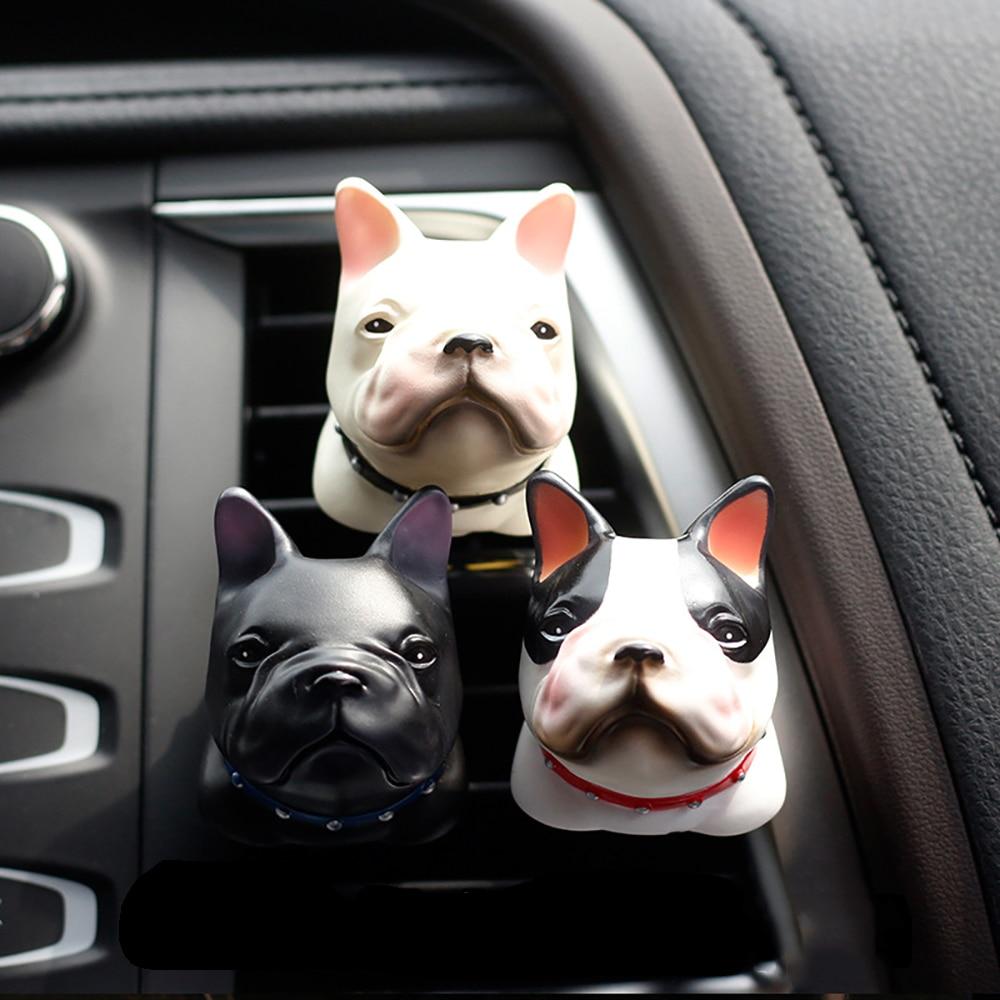 Car Ornament PVC Bulldog Auto Smell Perfume Clip Air Fresher Automotive Internal Vent Fragrance Diffuser Flavoring In The Car