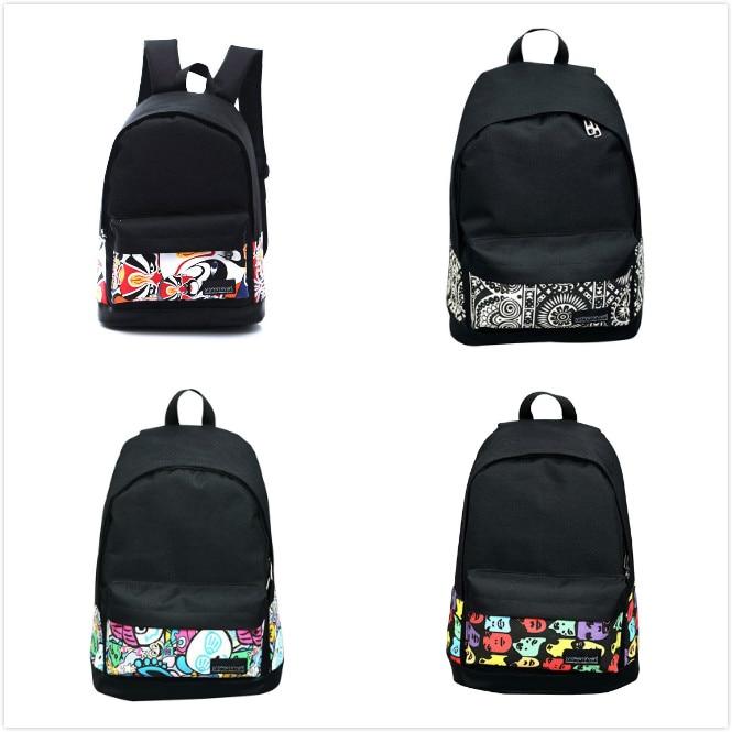 Vsen/горячая Обувь для девочек Для женщин холст школьная сумка Дорожная Рюкзак сумка рюкзак черный