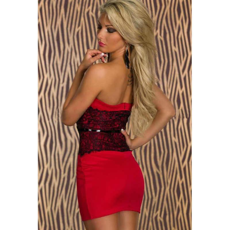 Женское платье Короткая юбка для девушки новые обернутая грудь, застежкой-молнией на спине, сексуальный тонкий корпус платье принцессы полиэстер красный, белый с черным кружевом N134