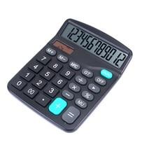 12-разрядный калькулятор Рабочий стол большими кнопками финансовых Бизнес Бухгалтерия инструмент M-28 черного цвета Большие размеры кнопки