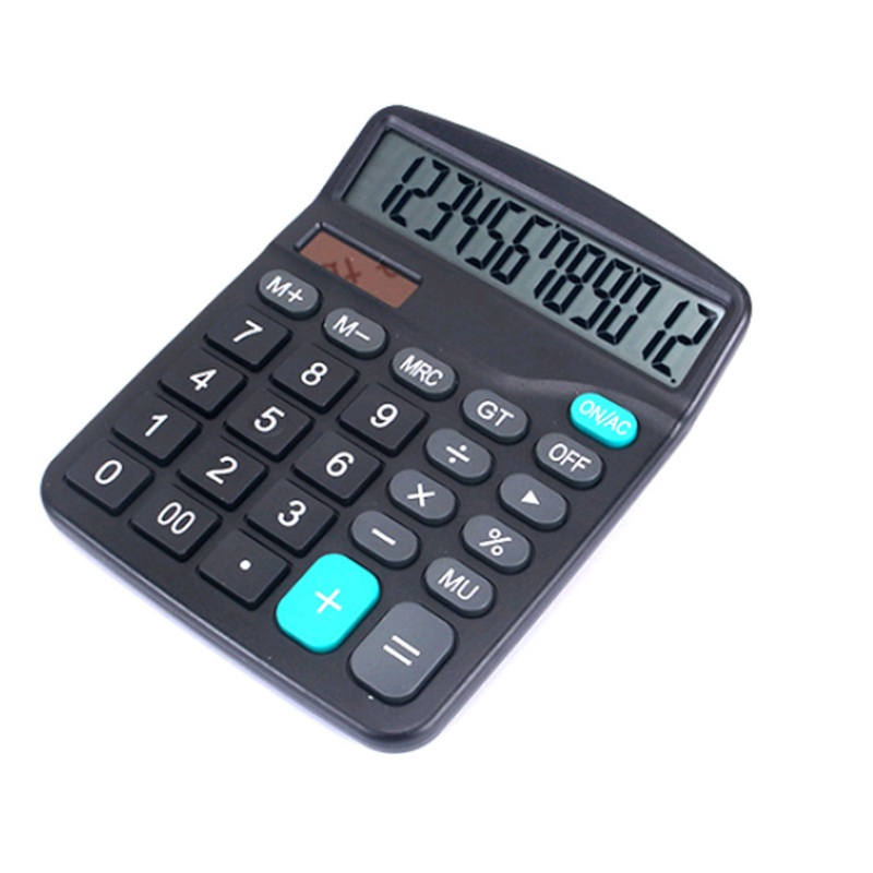 12 Digit Desk Calculator Large Buttons Financial Business Accounting Tool M-28 Black Color  Big Size Buttons