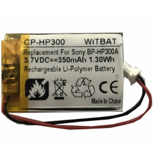 Battery for Sony DR-BT21,DR-BT22,DR-BT21G,DR-BT21IK,DR-BT21GB Headset New Li-po Rechargeable Replacement BP-HP300A 3.7V 350mAh dr nonna