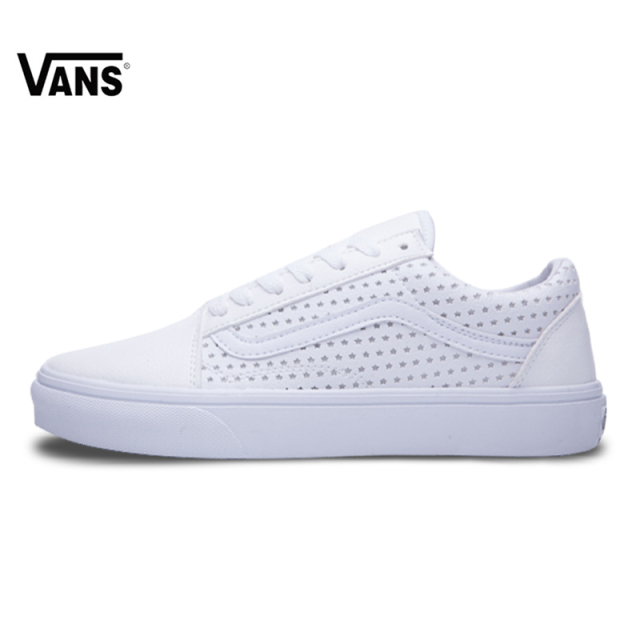 057450f350b45a VANS Old Skool Hollow Out Starts Printing Low-Top Trainers Women Sports  Vans Skateboarding Shoes For Women VN0A3JLIJ65 35-39