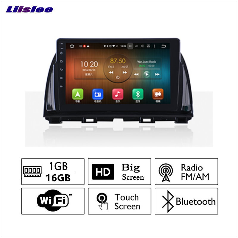 Liislee Car <font><b>Radio</b></font> GPS Audio Video Multimedia Player WiIFi DVR Navigation <font><b>Android</b></font> System No CD DVD For <font><b>Mazda</b></font> <font><b>CX</b></font>-<font><b>5</b></font> image