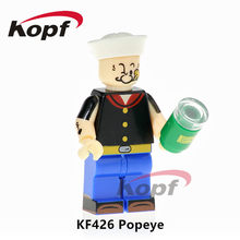 KF426 Super Heroes Single Sale Popeye Scarface Freddie Mercury Michael Jackson Building Blocks Bricks Model Children Toys Gift(China)