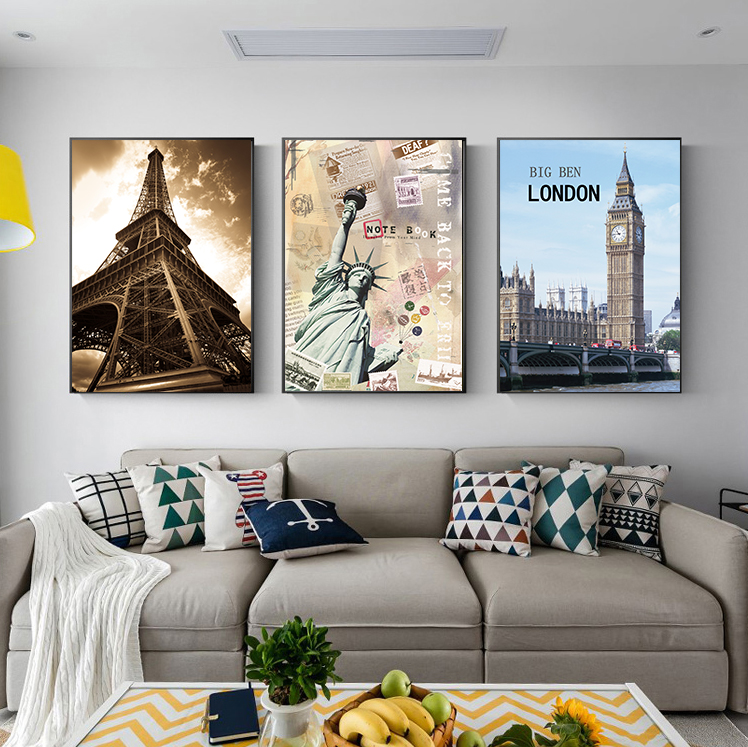 Modern Poster London Big Ben Clock Tower Architecture Canvas Picture Parlor Wall Artist House Decoration Birthday Gift