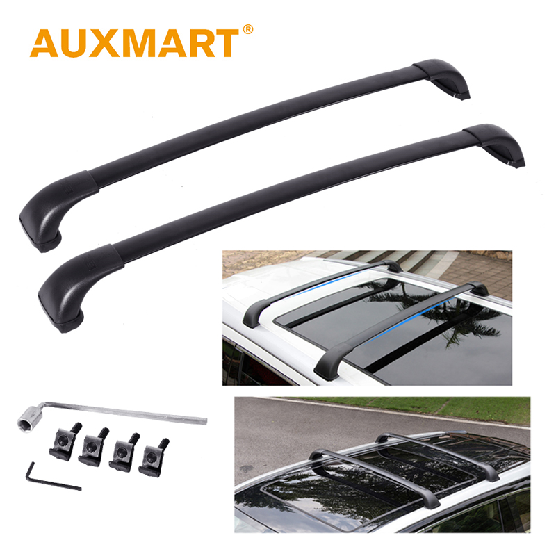 Auxmart Roof Rack Cross Bar for Toyota Highlander LE 2014-2017 <font><b>Car</b></font> Rooftop Rails Boxes Load Cargo Luggage Carrier Bike basket