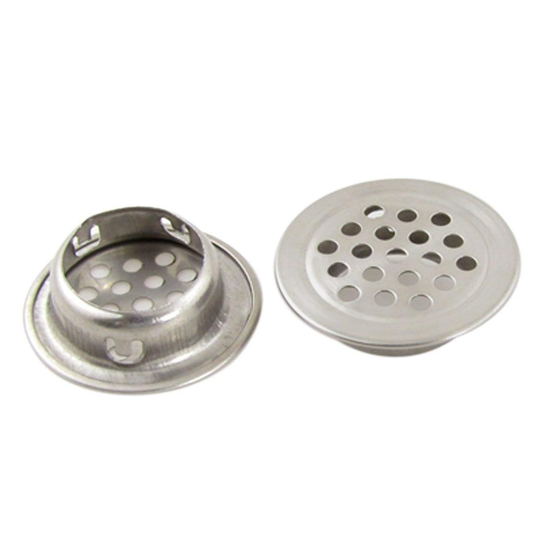 Wsfs Hot 2pcs Silver Stainless Steel 1 3 Top Diameter Kitchen Sink Basin Drain Strainer