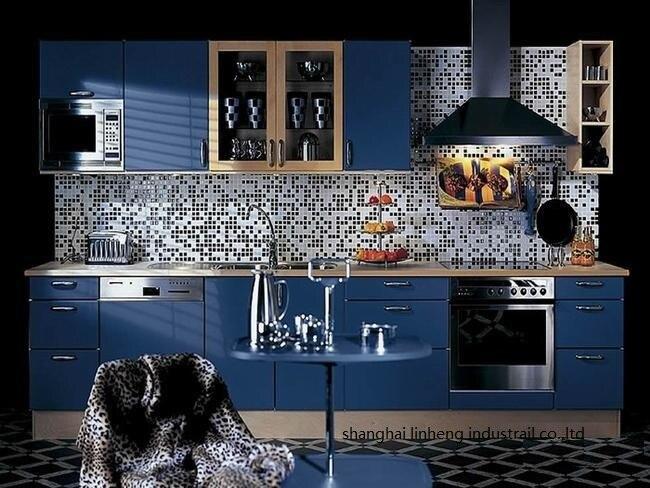 Глянцевый/лакированный кухонный шкаф mordern (LH LA022)