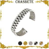 18mm 20mm 22mm Stainless Steel Watch Band For Seiko Men Women Metal Strap Wrist Loop Belt