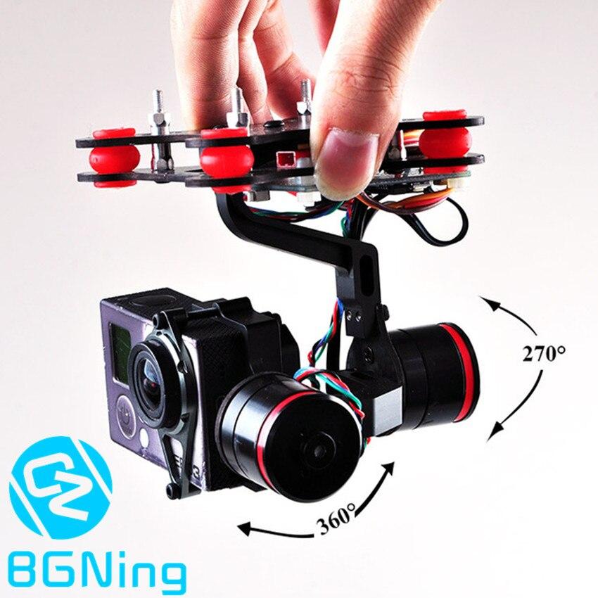Mise à niveau CNC contrôleur de montage de caméra à cardan 2 axes sans balai pour Gopro 3/3 +/4 bricolage FPV RC quadrirotor accessoire de Drone Plug & Play