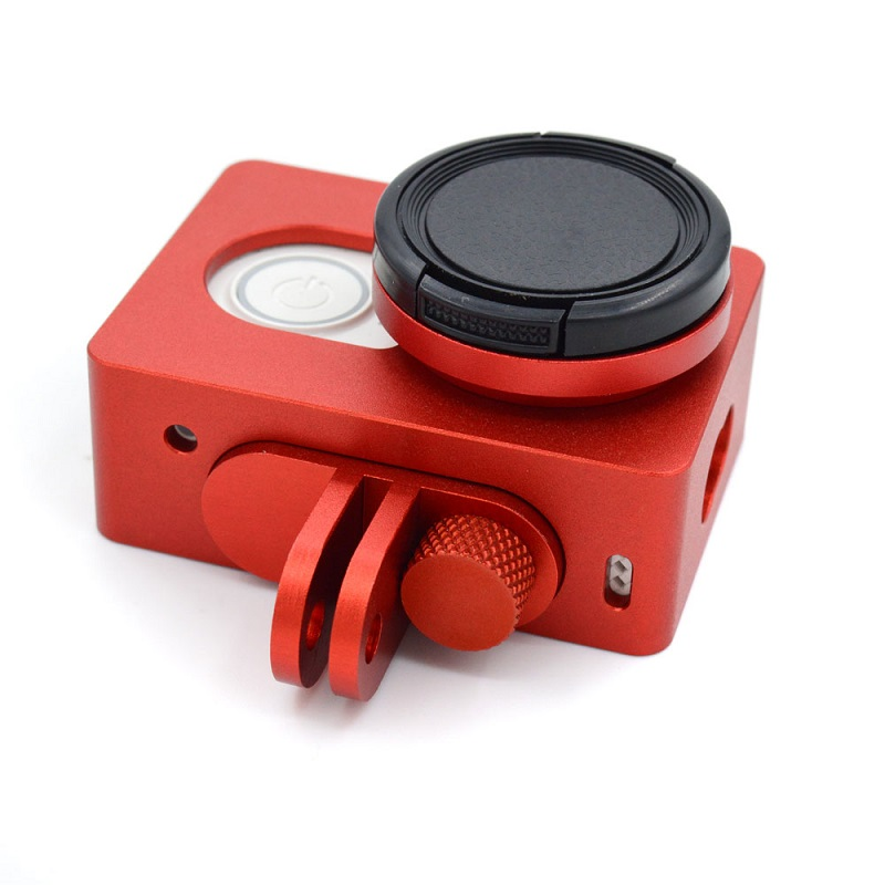 Transparent Skeleton Housing Ultrathin Transparent Protective Case with Lens Cap Cover for Xiaoyi Sport Camera Color : Transparent Camera Accessories