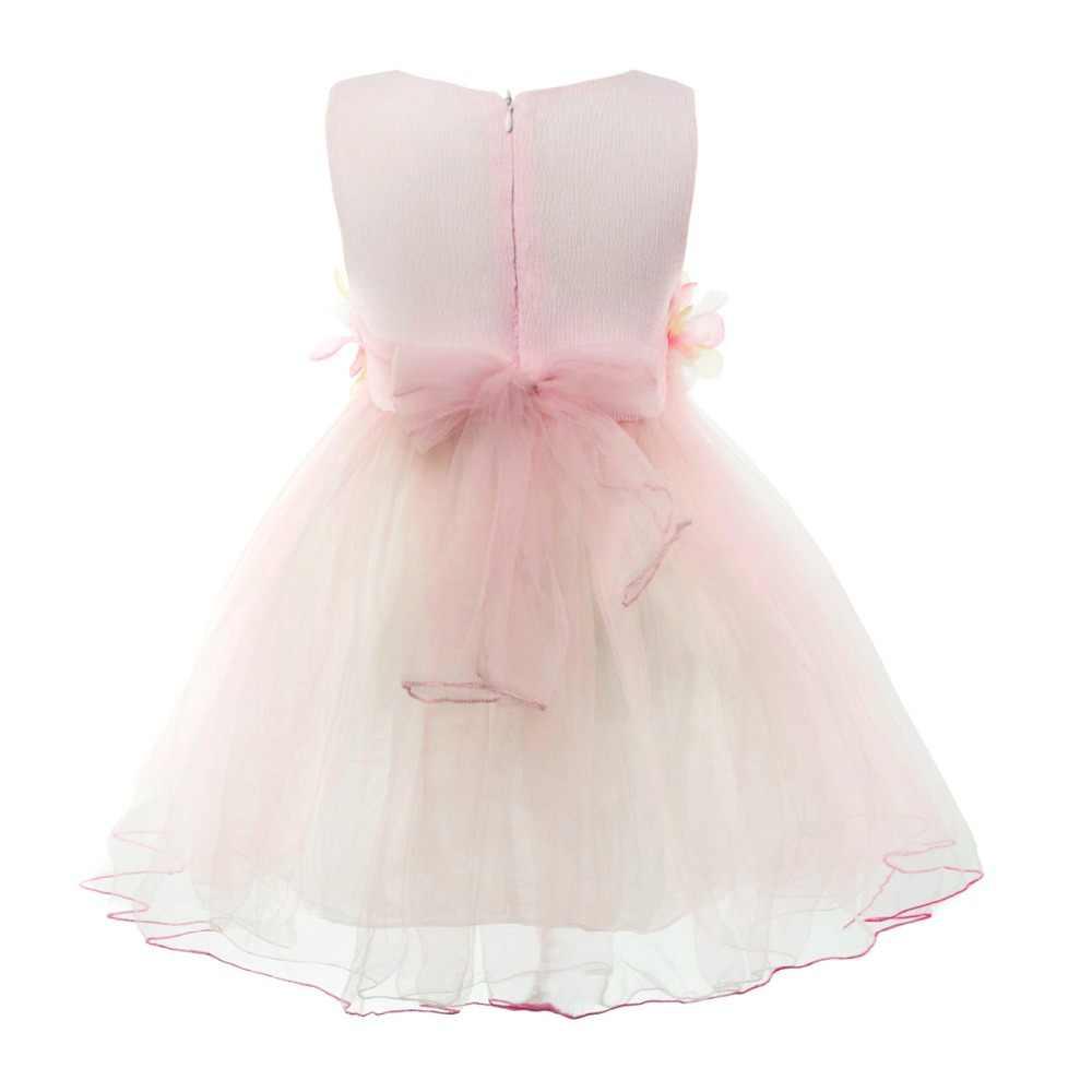 Cielarko מסיבת שמלה עבור בנות נסיכת פורמליות פרח תינוק שמלות 2018 קיץ ורוד שמלת אופנה בגדי עבור פעוט 1- 4 שנים