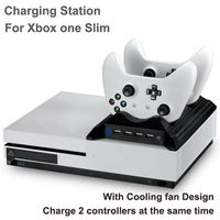 4 In1 Controller Charging Station With Cooling Fan And 4 USB Hub Port For Xbox One