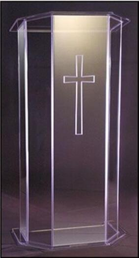 Wholesale Church Lectern Free Shiping High Quality Acrylic Podium Lectern Decoration Table Furniture