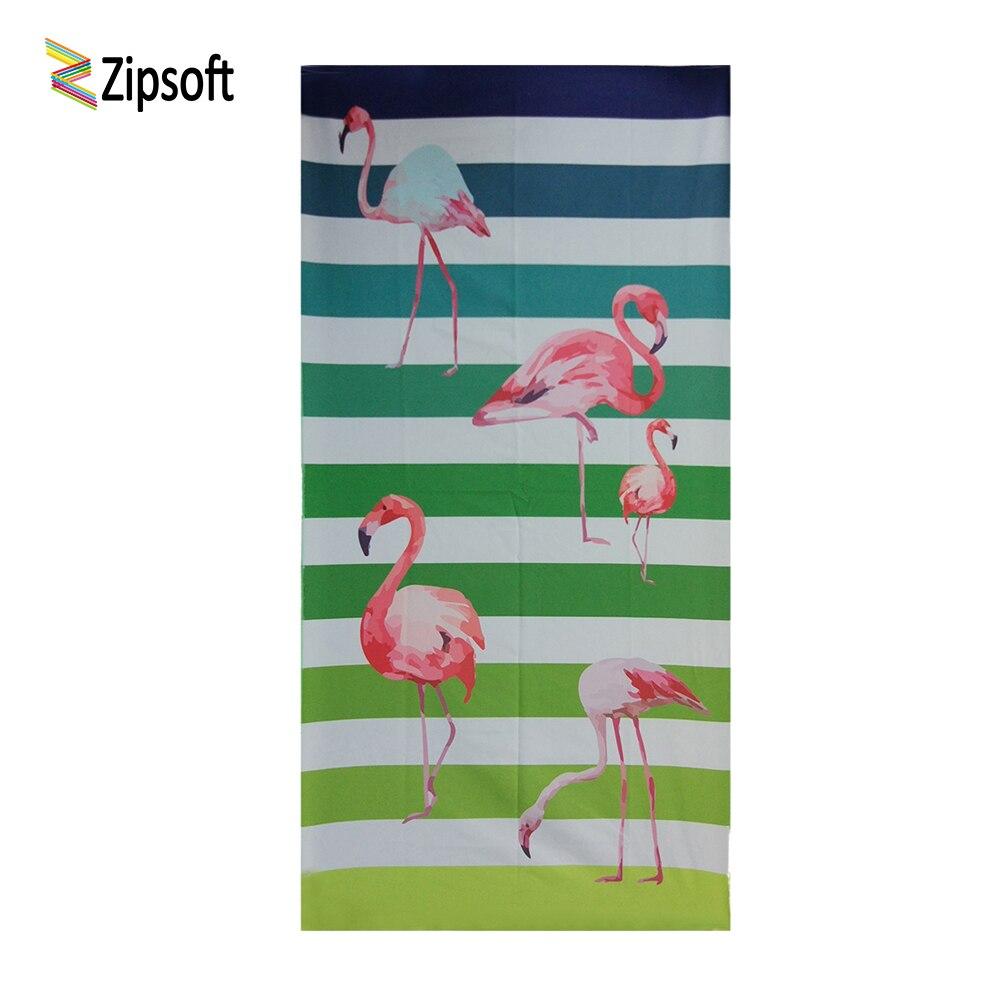 Openhartig Zipsoft Strandlaken Gedrukt Flamingo 75x150 Cm Grote Maat Microfiber Reizen Stof Sneldrogend Buiten Sport Bad Washrag 2019 50% Korting