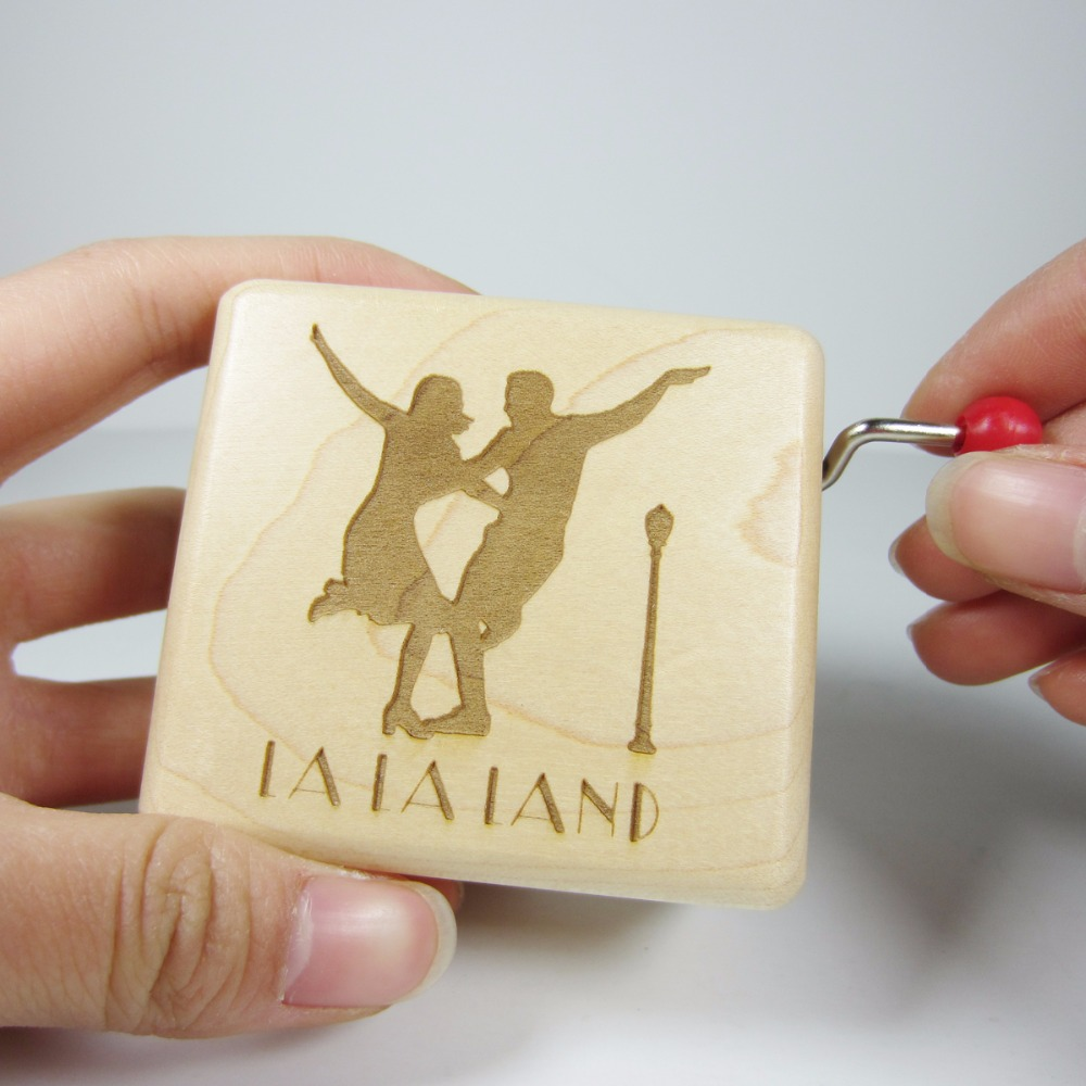 Handmade smilelife Wooden La la land city of stars music box cool brand gifts for birthd ...