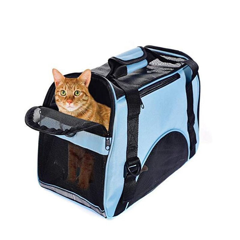 Cat Travel Carrier Bag, Comfort Portable Foldable Pet Bag Airline Approved For Dogs,large Cats And Puppies Animal
