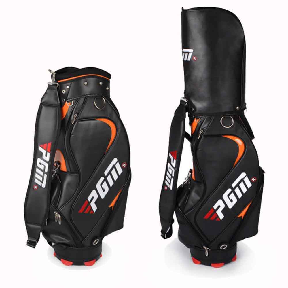 Top Quality PU Golf Bag For Men Standard Bag Waterproof Golf club Bag Golf Training Equipments Only Black Color For Choice pgm genuine golf standard durable bag waterproof lady golf capacity standard ball bag embroidered package contain full set club