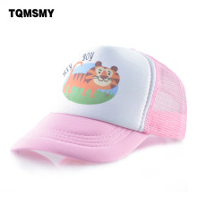 Kids Summer mesh Baseball Cap boys Lovely Cartoon Tiger Snapback caps For Girls Outdoor hat Children Breathable Sun Bone(China)