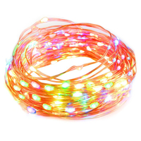 Dimmable Color LED String Lights Outdoor Lights Star Lights With 33 Ft Copper Wire
