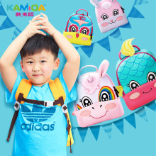 Fashion Kindergarten Backpacks 3D Embroidered Children Bag Ultra Light Offload Cute Cartoon Anime Kids for School Girl