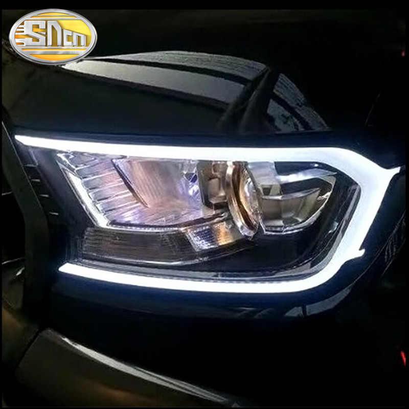 2 шт. светодиодный дневного света для Ford Ranger T7 T8 2015-2019 Водонепроницаемый 12 V светодиодная ртутная лампа фары автомобиля украшение фар