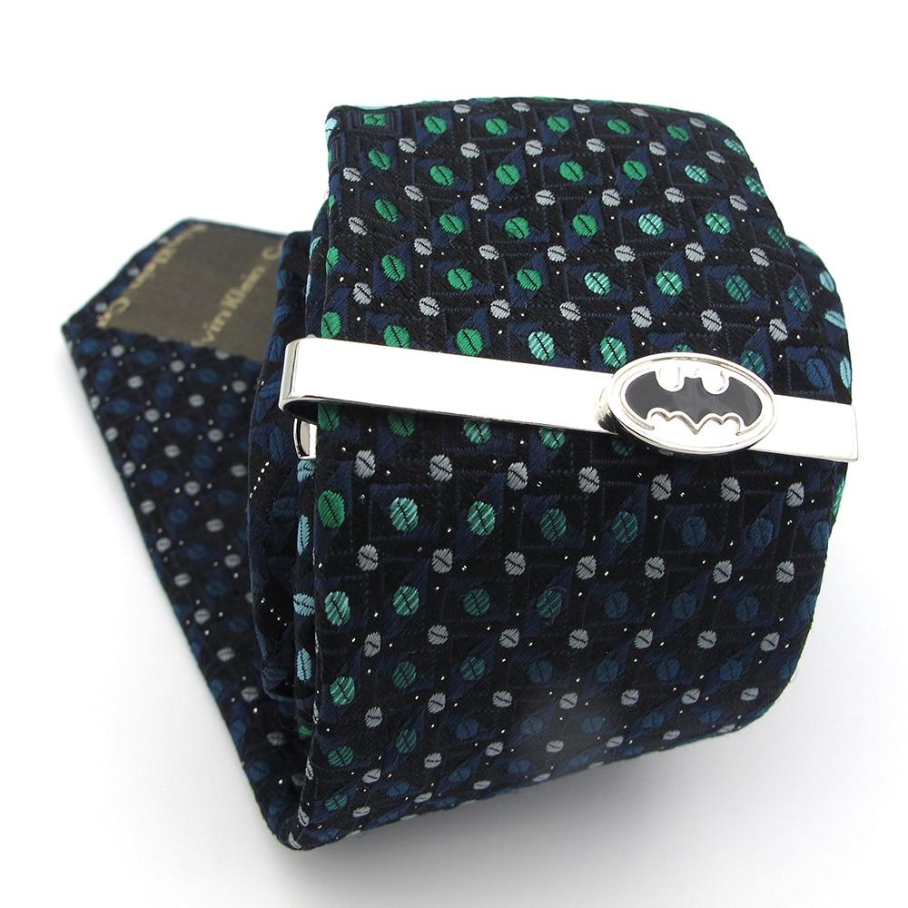 Tie-Clips Batman-Design Black-Color Superheroes Copper Men for Quality