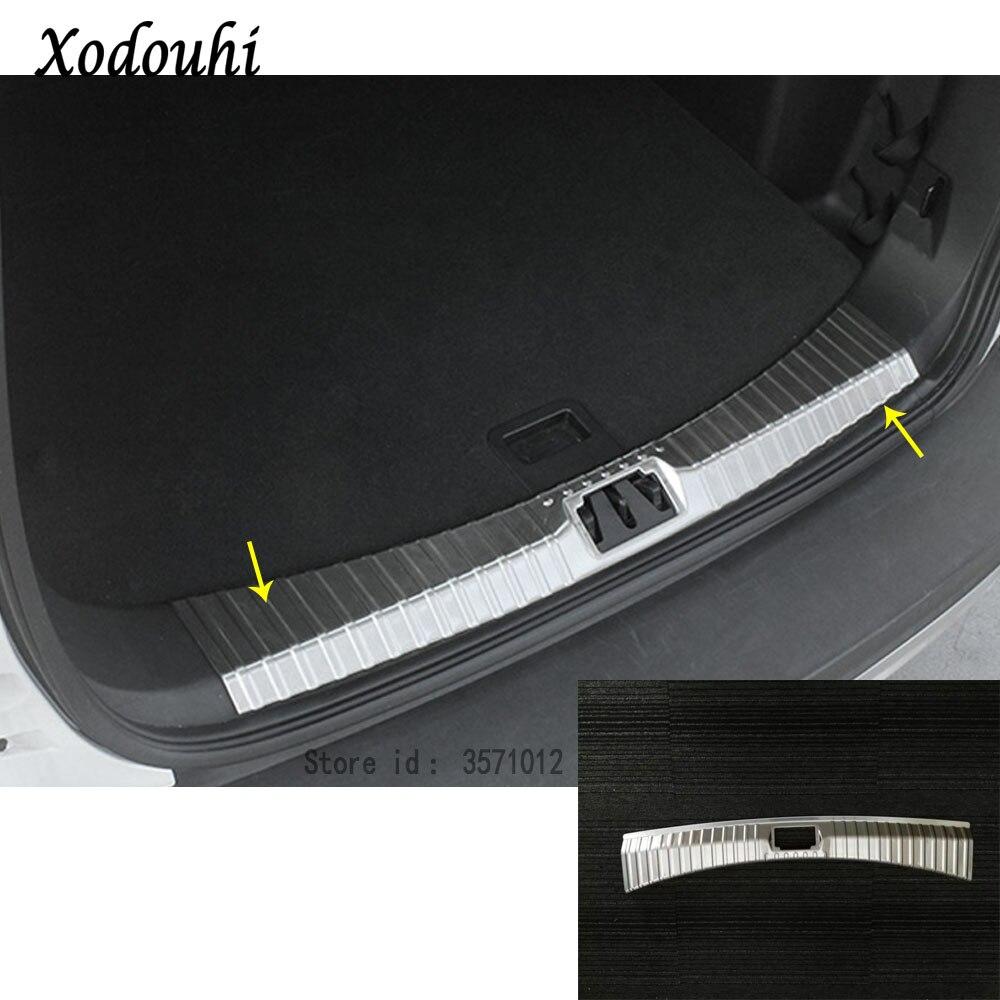 Pour Ford Kuga 2017 2018 2019 carrosserie en acier inoxydable intérieur intérieur coffre arrière pare-chocs garniture plaque lampe cadre seuil pédale 1 pièces