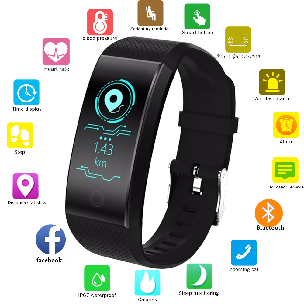 Herrenuhren Ogeda Ip68 Wasserdichte Intelligente Uhr Fitness Tracker Armband Blut Sauerstoff Herz Rate Monitor Blutdruck Sport Smart Bracele Uhren