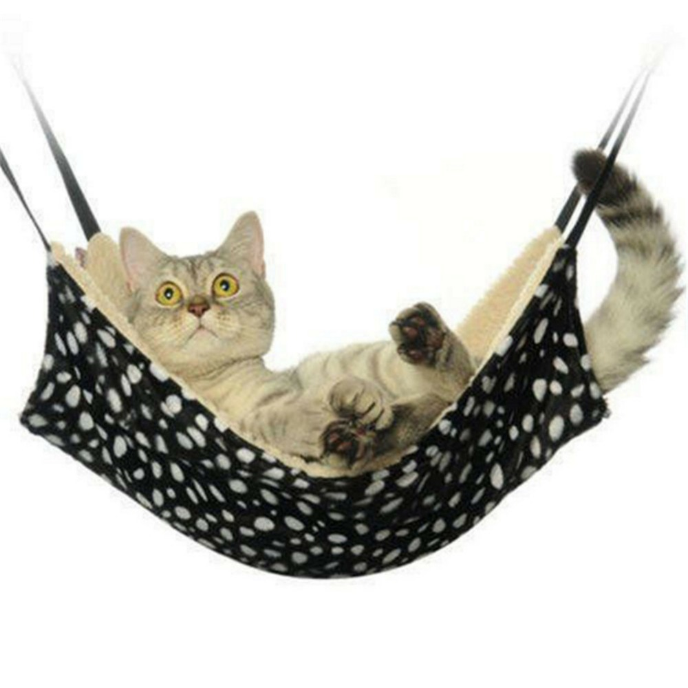 2019 New Warm Hanging Cat Bed Mat Soft Cat Hammock Winter Hammock Pet Kitten Cage Bed Cover Cushion Drop Shipping