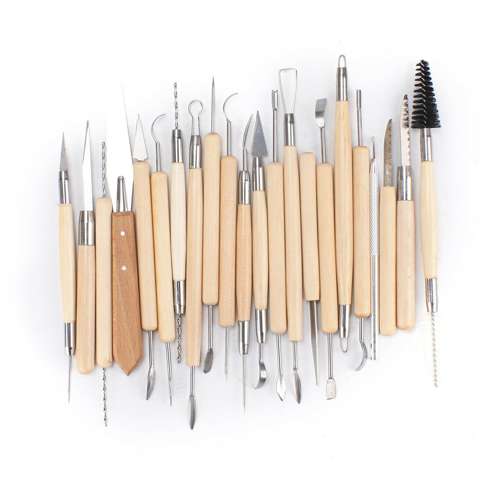 42 pièces Polymère Argile Outil de Sculpture Ensemble Bois Modèles Projets Artistiques Poterie outils de bricolage En Bois Artisanat