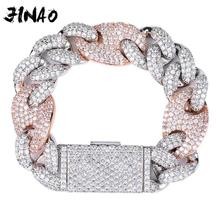 JINAO NEUE 20mm Miami Lock Verschluss Kubanischen Link 7 9 Inch Armband Iced Out AAA Cubic Zirkon Bling hip hop Männer Schmuck Geschenk
