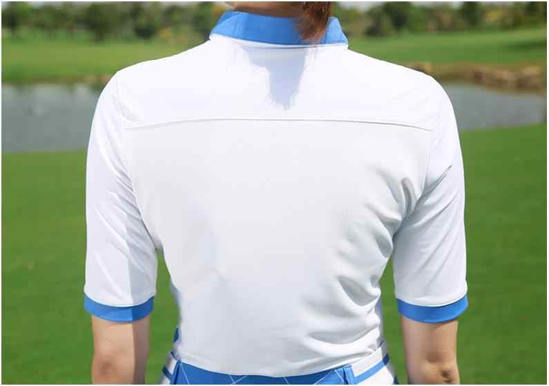 Новинка PGM Женская футболка для гольфа одежда для гольфа женские топы с короткими рукавами летняя футболка дышащая удобная рубашка поло