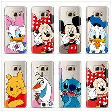 Coque Samsung Galaxy Grand Note 5 rouge arc Minnie Mickey Mouse à pois silicone souple dessin animé Mignonne