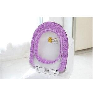 Image 5 - 1 stücke 30 cm Warme Weiche Wc Abdeckung Sitz Deckel Pad Badezimmer Closes Protector Badezimmer Zubehör Set Wc Sitz Abdeckung matte