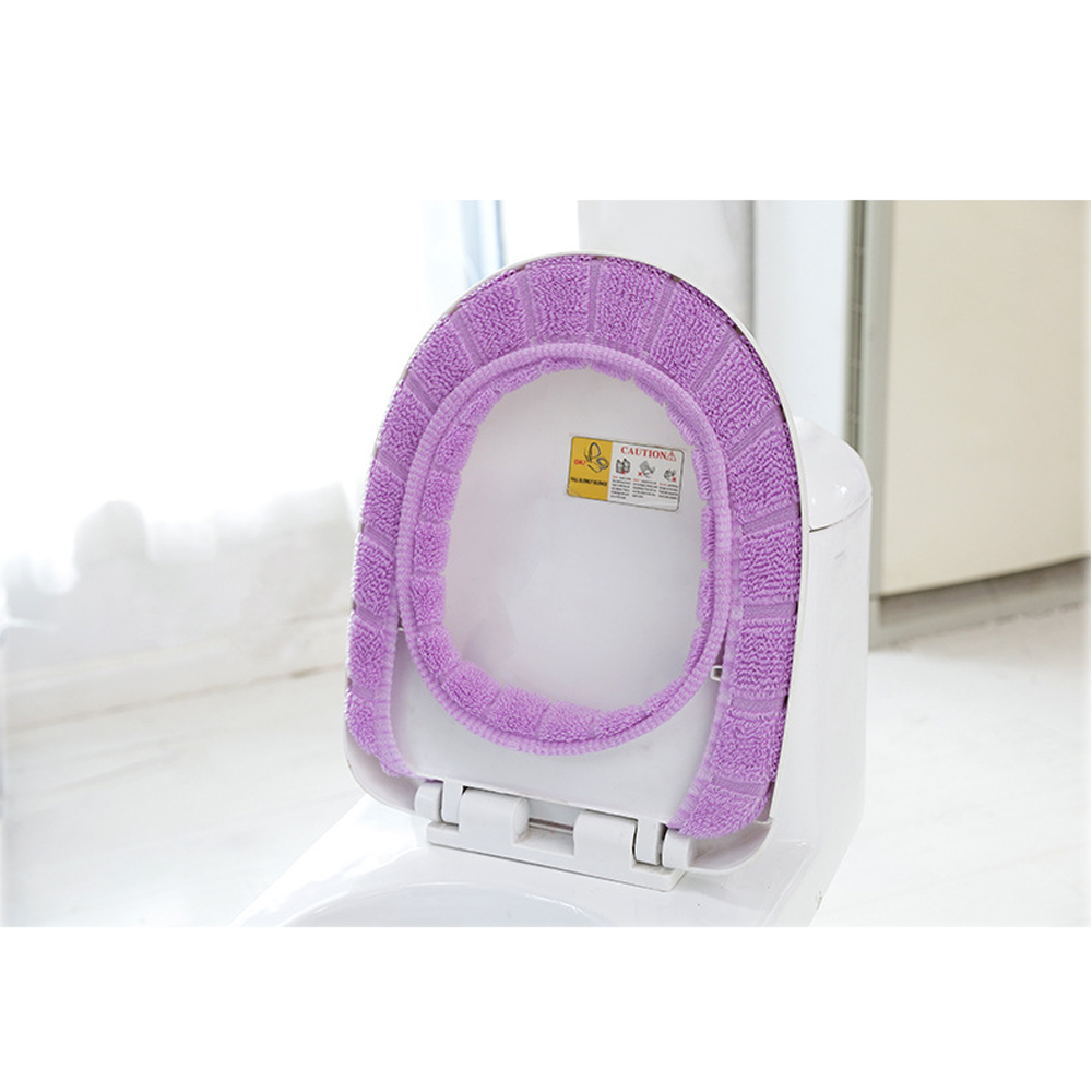 Image 5 - 1pcs 30cm Warm Soft Toilet Cover Seat Lids Pad Bathroom Closestool Protector Bathroom Accessories Set Toilet Seat Cover Mat-in Toilet Seat Covers from Home & Garden