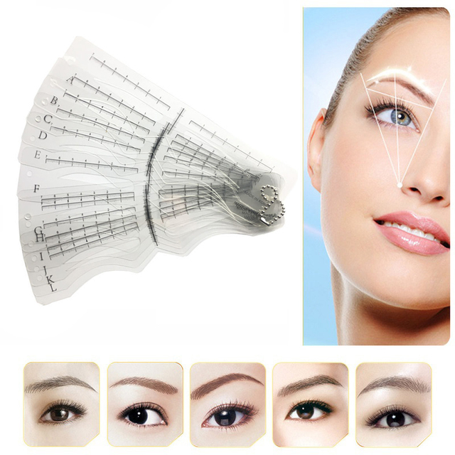 Template Eyebrow  Eyebrow Stencils Reusable Eyebrow Drawing Guide Card Brow Template DIY Make Up Tools Wholesales