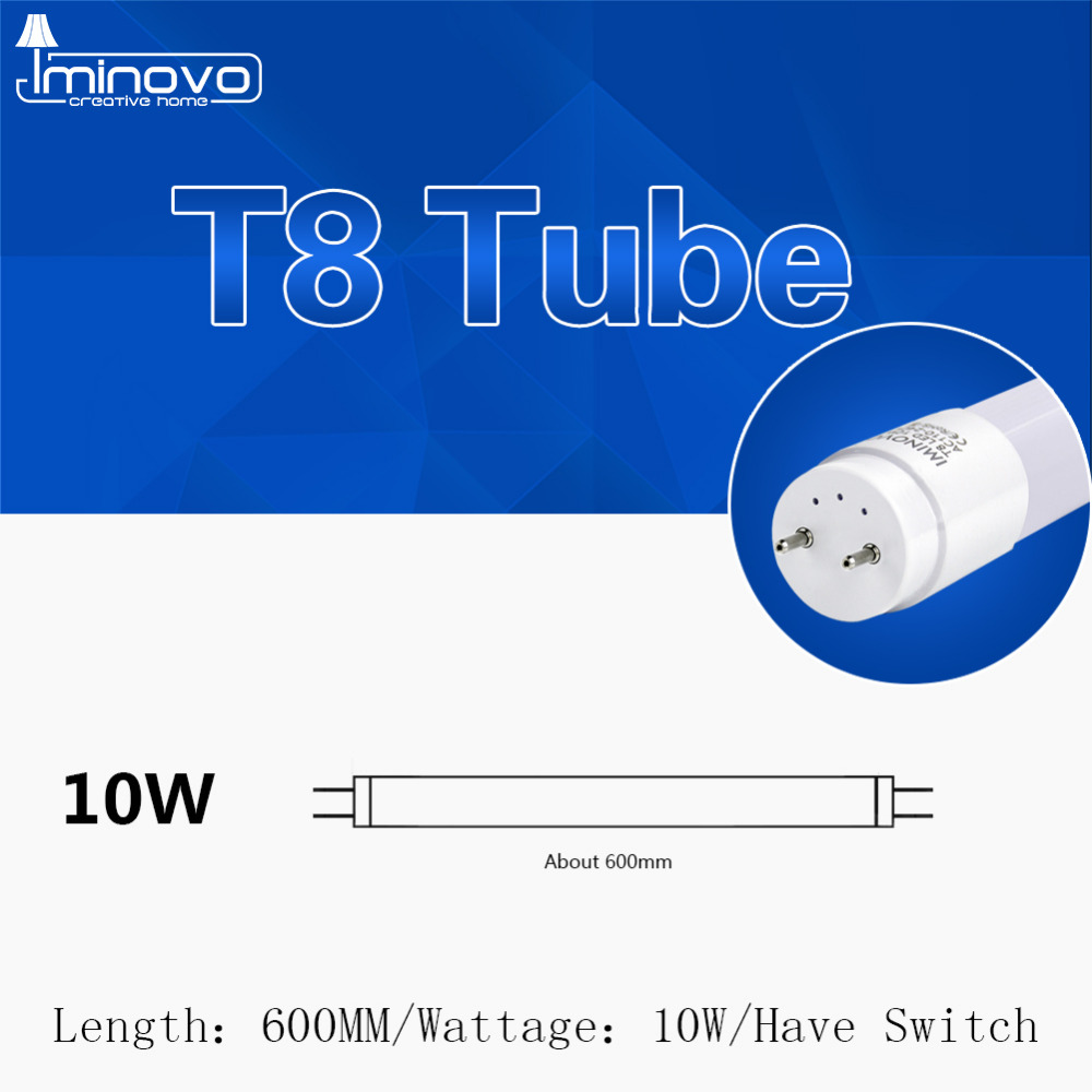 IMINOVO 4Pack T8 LED Tube Light Lamp 600MM 10W Milky Cover SMD 2835 AC 110V-220V Warm Cool White Light meeting room office прогулочная коляска cool baby kdd 6699gb t fuchsia light grey