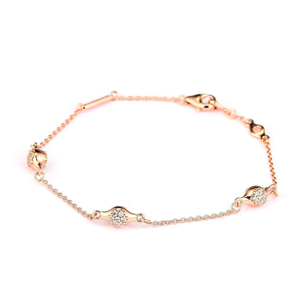 Ckk 925 Sterling Silber Moderne Liebe Rose Gold Armbänder Für Frauen Original Schmuck, Der Jahrestag Geschenk