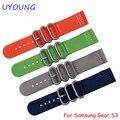 Para samsung gear s3 smart watch band 22mm otan nylon correa de reloj reloj de la calidad accesorios