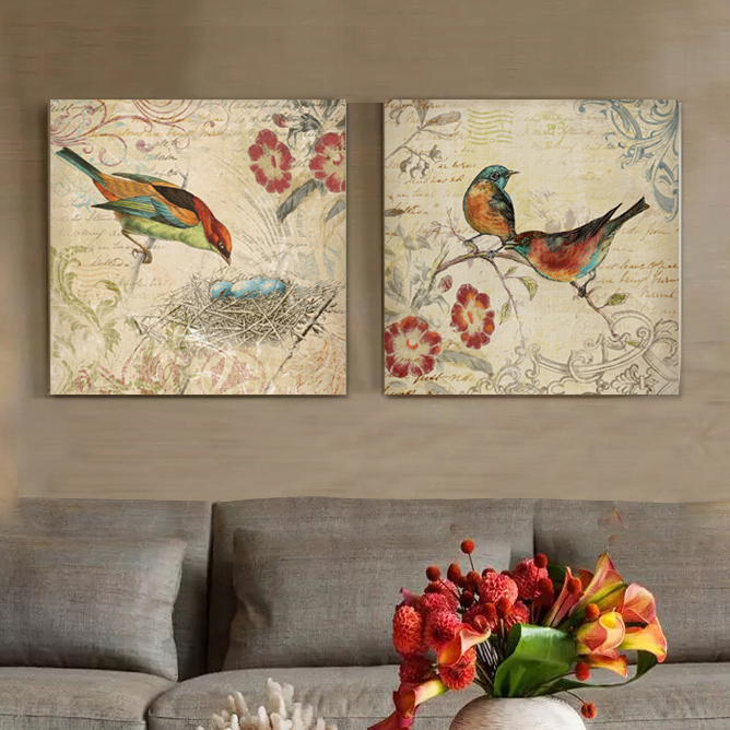 Buy animal birds and nest morning glory for Blank canvas designs wall art