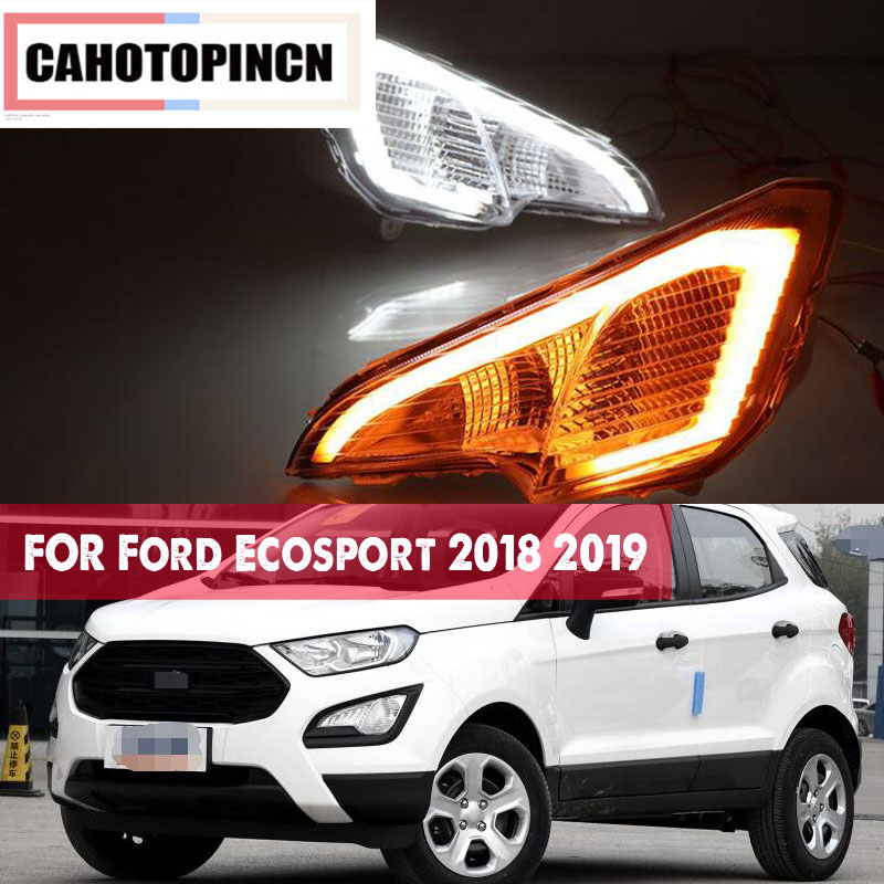 For Ford Ecosport 2018 2019 12V Waterproof ABS LED Car DRL
